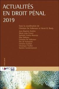 Actualités en droit pénal 2019