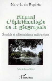 Manuel d'épistémologie de la géographie