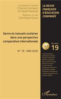 Raisons, comparaisons, éducations. n° 19, Genre et manuels scolaires dans une perspective comparative internationale