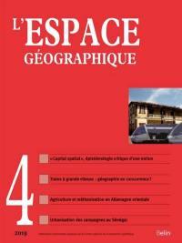 Espace géographique. n° 4 (2019),
