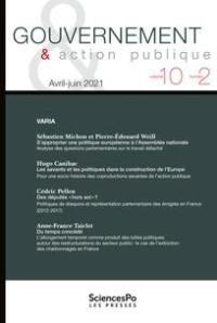 Gouvernement & action publique, n° 10-2. Varia
