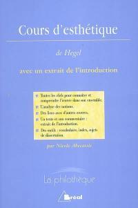 Cours d'esthétique, Hegel