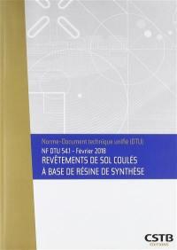 Revêtements de sol coulés à base de résine de synthèse