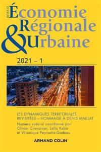 Revue d'économie régionale et urbaine. n° 1 (2021), Les dynamiques territoriales revisitées