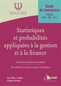 Statistiques et probabilités appliquées à la gestion et à la finance