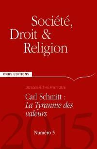 Société, droit et religion. n° 5, Carl Schmitt