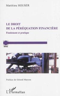 Le droit de la péréquation financière