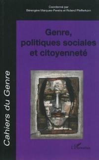Cahiers du genre, hors série. n° 2011, Genre, politiques sociales et citoyenneté