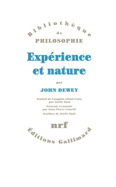 Expérience et nature