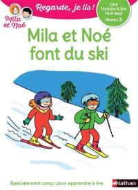 Mila et Noé font du ski
