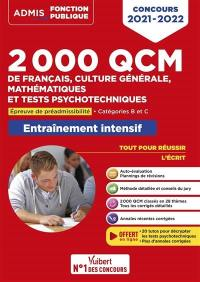 2.000 QCM de français, culture générale, mathématiques et tests psychotechniques