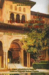 Revue franco-maghrébine de droit. n° 17, Etudes marocaines, tunisienne et libanaise