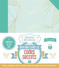 Mon mini-carnet de codes secrets Mémoniak