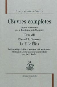 Oeuvres romanesques. Volume 8, La fille Elisa