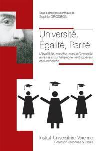Université, égalité, parité