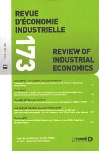 Revue d'économie industrielle. n° 173, Varia