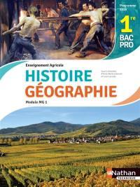 Histoire et géographie, 1re bac pro 3 ans : enseignement agricole, module MG1, objectif 3 : programme 2016