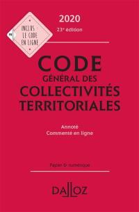 Code général des collectivités territoriales 2020