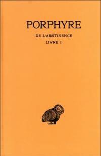De l'abstinence. Volume 1, Livre 1