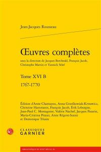 Oeuvres complètes. Volume 16 B, 1767-1770