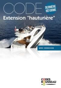 Permis bateau Rousseau, Code extension hauturière 2019
