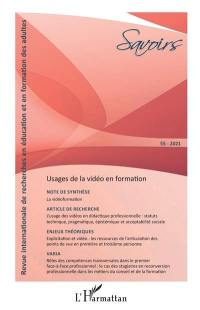 Savoirs. n° 55, Usages de la vidéo en formation