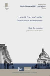 Le droit à l'interopérabilité
