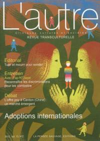 Autre (L'). n° 38, Adoptions internationales