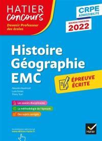 Histoire géographie EMC, enseignement moral et civique