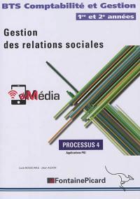 Gestion des relations sociales : BTS comptabilité et gestion 1re et 2e années : processus 4, applications PGI