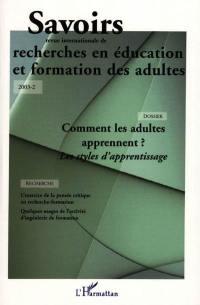 Savoirs, n° 2 (2003). Comment les adultes apprennent ? : les styles d'apprentissage