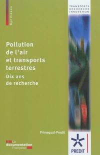 Pollution de l'air et transports terrestres