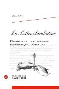 Lettre clandestine (La). n° 29, L'imposture et la littérature philosophique clandestine