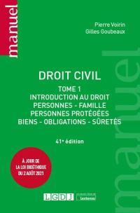 Droit civil. Volume 1, Introduction au droit