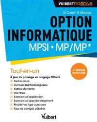 Option informatique MPSI, MP-MP*