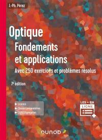 Optique, fondements et applications