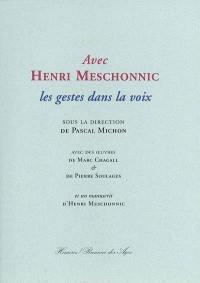 Avec Henri Meschonnic