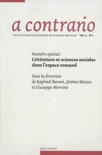 A contrario. n° 4-2, Littérature et sciences sociales dans l'espace romand
