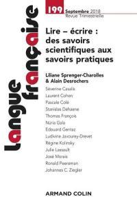 Langue française. n° 199, Lire, écrire
