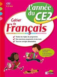 Cahier de français, l'année du CE2, 8-9 ans