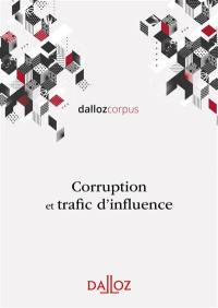 Corruption et trafic d'influence