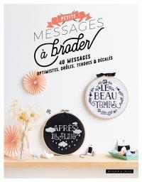 Petits messages à broder