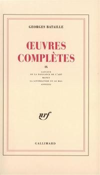 Oeuvres complètes. Volume 9,
