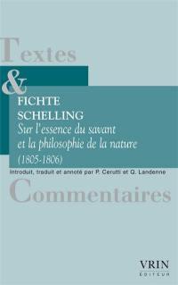 Sur l'essence du savant et la philosophie de la nature (1805-1806)