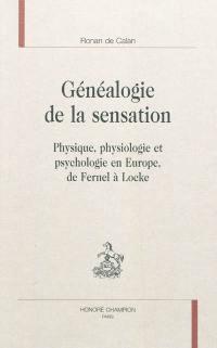 Généalogie de la sensation