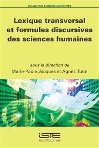 Lexique transversal et formules discursives des sciences humaines