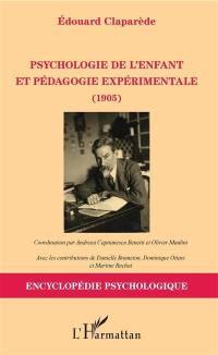 Psychologie de l'enfant et pédagogie expérimentale