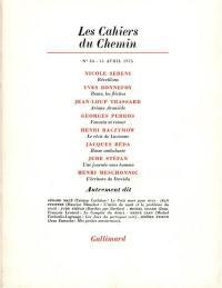 Cahiers du chemin (Les). n° 24,