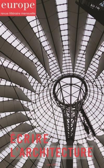 Europe, Ecrire l'architecture