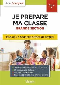 Je prépare ma classe, grande section, cycle 1